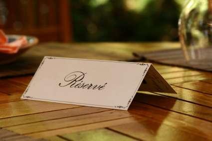 Reserveer uw tafel